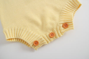 Cupid Romper - Custard Yellow