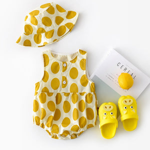 Dotty About You - Romper and Hat Set