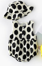 Load image into Gallery viewer, Dotty About You - Romper and Hat Set