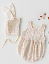 Load image into Gallery viewer, Some Bunny Loves you - Romper and Matching Hat Set