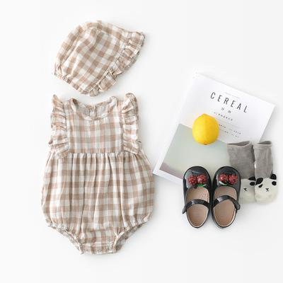 Kathleen - Matching Romper and Hat Set