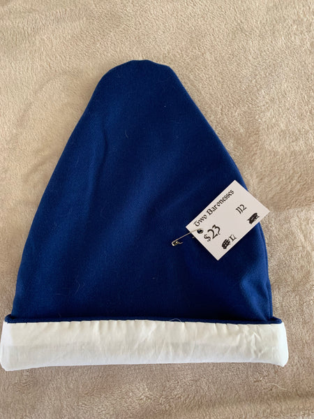 Norse Viking lined blue wool hat, Large #112