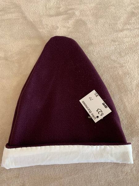 Norse Viking lined purple wool hat, XL #70