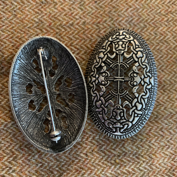 Norse style Viking tortoise turtle brooches, style 7, silver color