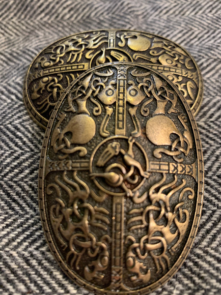 Norse style Viking tortoise turtle brooches, style 17