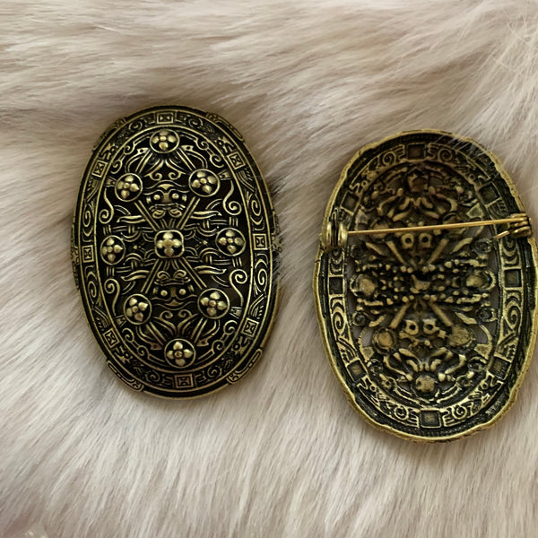 Norse style Viking tortoise turtle brooches, style 1