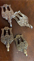 Replica Russian Borre raven Viking winingas (leg wrap) or dress hooks, set of 2