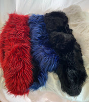 Lined faux fur scarves