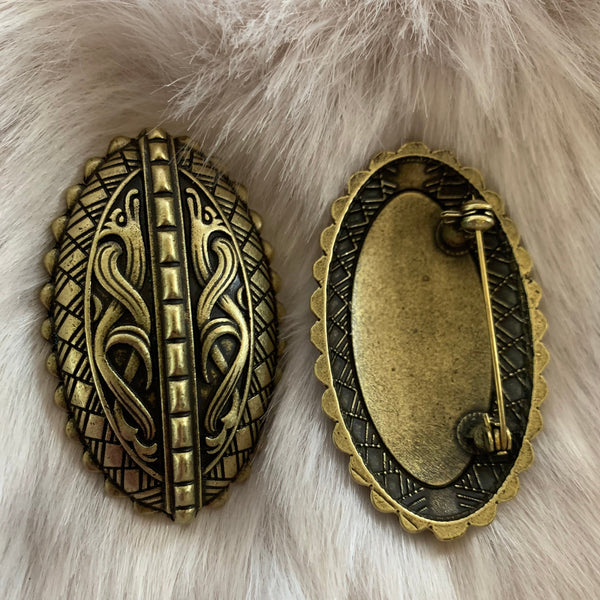 Norse style Viking tortoise turtle brooches, style 4