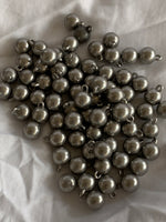 8 mm true ball buttons with metal shank, set of 100 (wholesale lots) gold, silver, copper, antique silver and antique gold