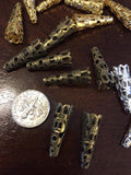 10 pairs of small lacing points - aglets - aiglets - aiglettes for renaissance - victorian - steampunk clothing: gold, silver, bronze