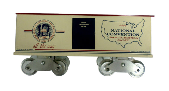 McCoy 1000-66 Western Division National Convention TCA STD Scale Box Car 1966
