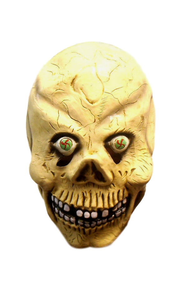 Halloween Insane Skull Face Monster Latex Mask 50191 Scary Creepy Teeth Bone