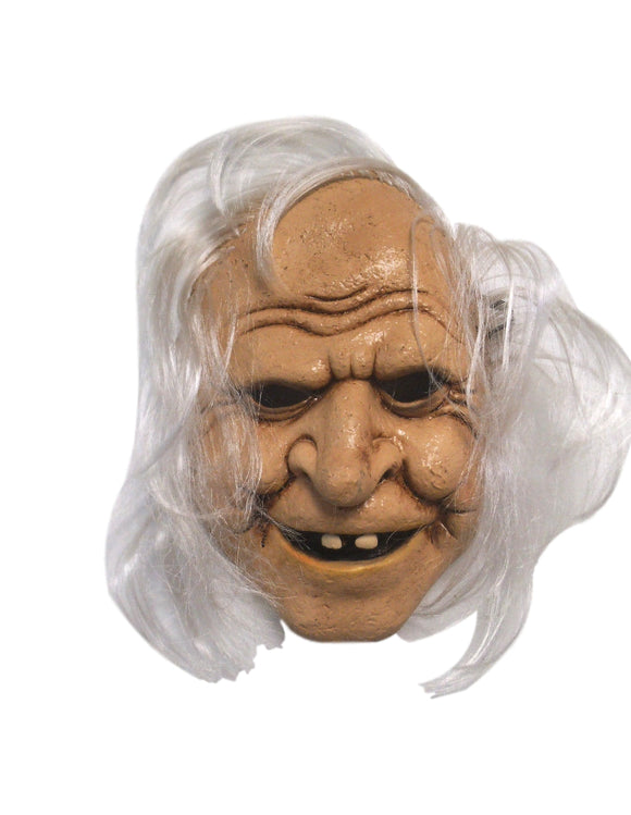 Halloween Scary Old Lady Witch With Missing Teeth Stretch String Latex Mask 1940