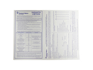 Pentair Water Pool and Spa Product Garantie Registration Card FR France
