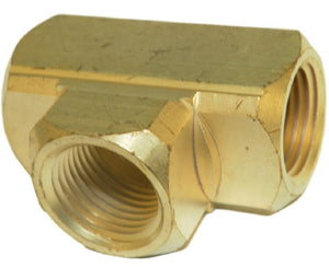 "Big A Service Line 3-20160 Brass Pipe, Tee Fitting 3/8"" x 3/8"" x 3/8"""