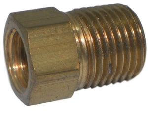 "Big A Service Line 3-124220 Brass Pipe, Hex Bushing Fitting 1/8"" x 1/8"""