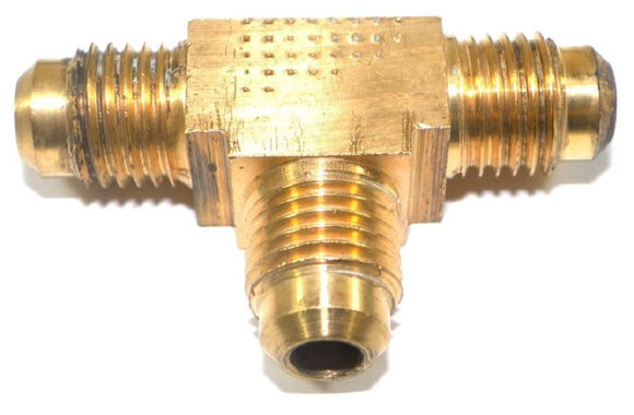 Big A Service Line 3-144400 Brass Pipe, Flare Tee Fitting 1/4