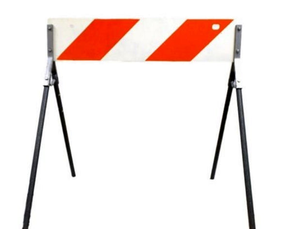 Portable A-Frame Metal Traffic Barricade 36