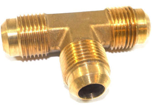 "Big A Service Line 3-144800 Brass Pipe, Tee Fitting 1/2"" x 1/2"" x 1/2"""
