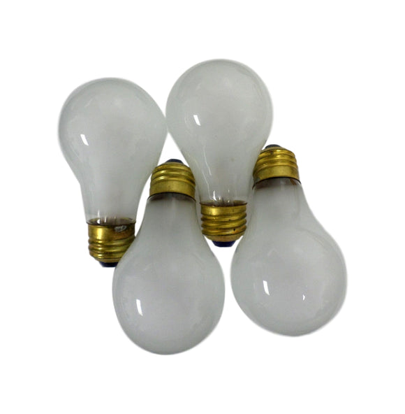 American Automotive Lot of (4) 50W Rough Service Light Bulbs 120V Brass Base