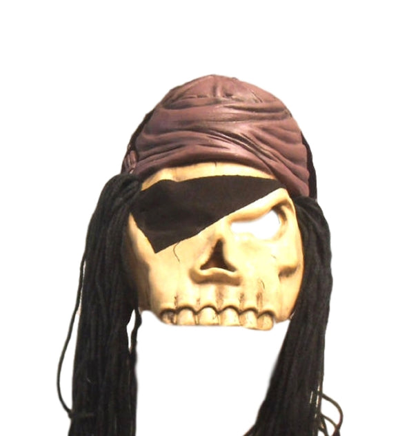Halloween Eye Patch Skull Pirate Thief Black Magic Theater Cosplay Latex Mask
