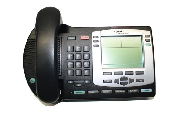 Nortel Networks NTDU92BC70 i2004 IP VoIP Phone Charcoal LCD Bezel w/o Power cord