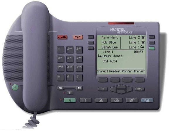 Nortel Networks NTDU82AA70 i2004 IP VoIP Phone Charcoal w/ Power cord