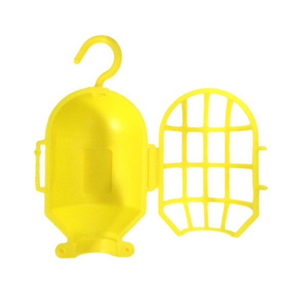 Borg Warner Plastic Bulb Guard Bright Yellow Mechanic's Work Shop Cage w/ Swing