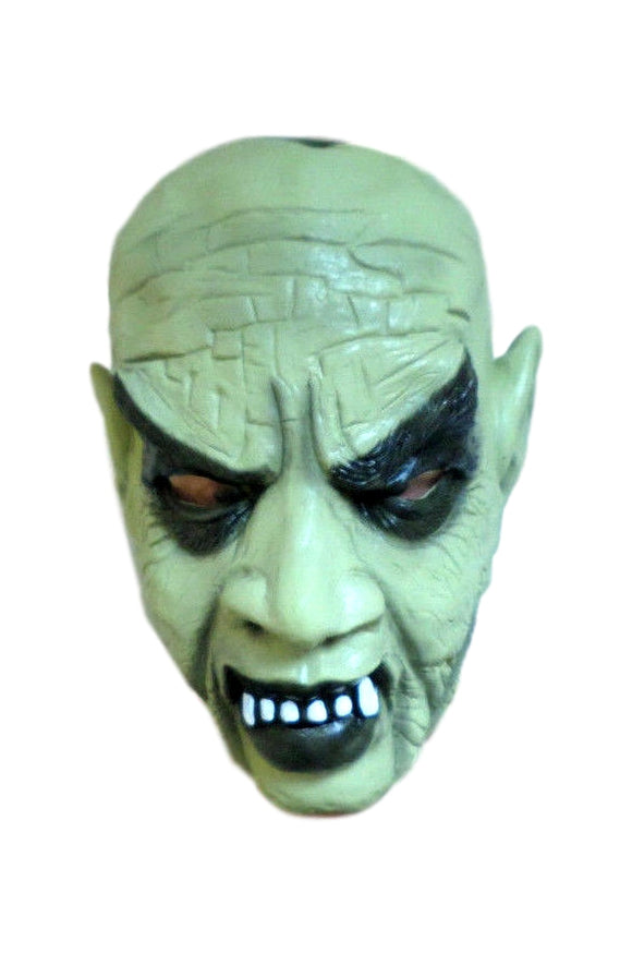 Halloween Crazy Green Tone Goblin Gremlin Monster Latex Mask 50190 Evil Creepy