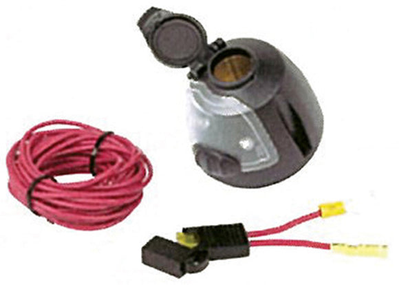 Hopkins 55125 12 Volt Power Socket with Utility Light/17Ft Power Wire & Fuse