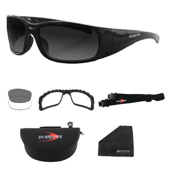 Balboa BGUN001 Gunner Black Frame Convertible - Photochromic & Clear Lenses