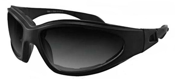 Balboa GXR001 Black Frame GXR Sunglass - Anti-Fog Smoked Lenses