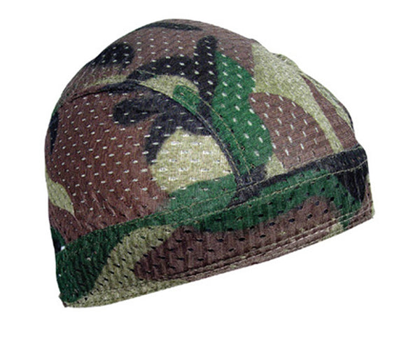 Balboa ZX118 100% Polyester Mesh Vented Flydanna - Woodland Camouflage