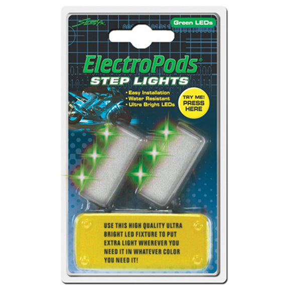 Street FX 1043046 Step Green Lights - 2 Pack