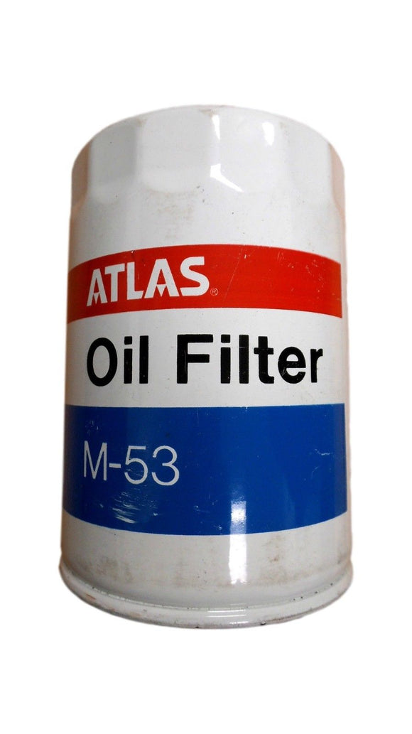 Atlas Engine Oil Filter M-53 651253 Vintage **Rare** Free Shipping!