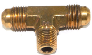 Big A Service Line 3-145520 Brass Pipe, Flare Tee Fitting 5/16 X 5/16 X 1/8""