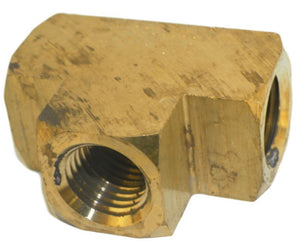 "Big A Service Line 3-20140 Brass Pipe, Tee Fitting 1/4"" x 1/4"" x 1/4"""