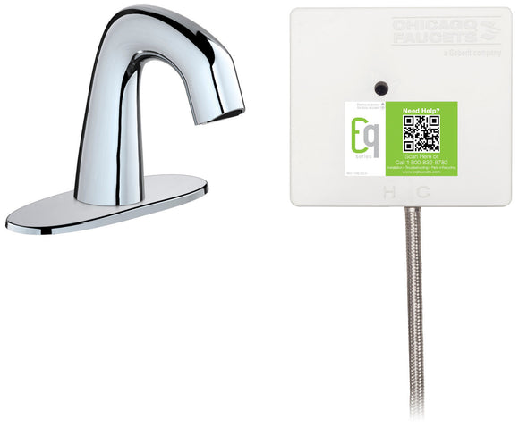 Chicago Faucets EQ-A12B-21ABCP EQ Series Electronic Sensor Faucet