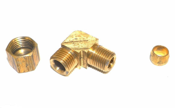 Big A Service Line 3-16942 Brass 90 deg Street Elbow Fitting 1/4