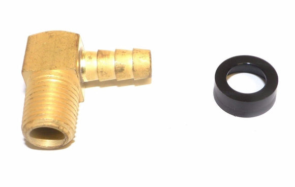 Big A Service Line 3-73125 1/8 NPTF Male Thread, 5/16 Inch Hose Barb Brass Elbow