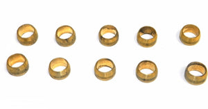 "Big A Service Line 3-16050 Automotive Brass Compression Sleeve, 5/16"" Tube End"