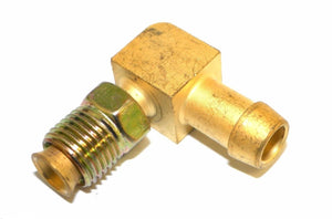 "Big A 3-82256 Brass 5/16"" Adjustable Thread x 3/8"" Metal Barbed Tube Fitting"