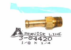 "Big A Service Line 3-84420 Brass Hose Fitting, 1/8"" x 1/4"" Male Pipe"
