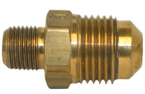 "Big A Service Line 3-14862 1/8"" Tube End, 3/8"" Thread, Brass Flare Male Union"
