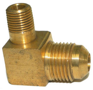 "Big A Service Line 3-14962 90 deg Male To Male Elbow Brass Fitting 3/8"" x 1/8"""