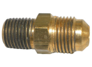 "Big A Service Line 3-14864 1/4"" Tube End, 3/8"" Thread, Brass Flare Male Union"