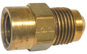 "Big A Service Line 3-14664 Brass Flare Female Connector 3/8"" x 1/4"""