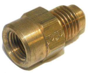 "Big A Service Line 3-14642 Brass Flare Female Connector 1/4"" x 1/8"""