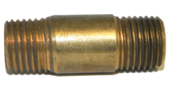 Big A Service Line 3-21341 Brass Long Nipple Male Thread Size: 1/4
